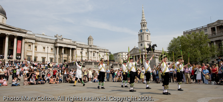 Day of dance hosted by the Westminster Morris men in May 2008.Photo: Merv Colton